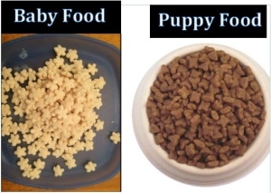 Baby Food vs. Puppy Food take 3
