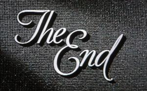 The end old movie